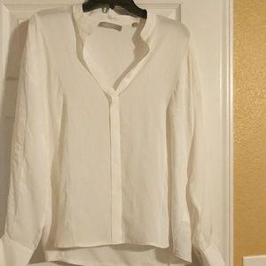NWOT Vinc white 100%Silk